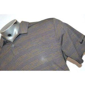 9658 Mens Nike Golf Polo Shirt Size Large Gray